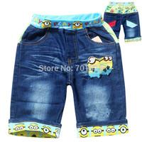 New Arrival!Free Shipping Despicable Me Children's Boys Carton Embroidery Pants & Capris 6PCS/Lot