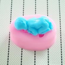 2014 Nova bebê Food-grade do molde de silicone 3D , Ferramentas Fondant decoração do bolo, molde de sabão silicone , Silicone Mold bolo(China (Mainland))
