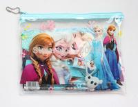 NEW 6 sets  (7 in 1) Frozen Purple princess pattern stationery set / school supplies / pencil /notebook / eraser / kid gift