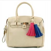 New 2014 Designer Brand Women leather handbag  Europe  Fashion Tassel women handbag shoulder bag Vintage women messenger bag