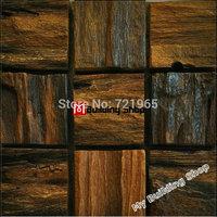 Wood parquet mosaic wall tiles NWMT111 square wooden mosaic TV background wood tiles backsplash mosaics