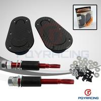 WLR STORE- New Universal Racing Lock Plus Flush Hood Latch Pin Kit, Carbon Fiber, JDM style without key