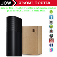 Free shipping by DHL Xiaomi Router dual-band router AC Smart Broadcom BCM4709 dual-core CPU with 1TB Hard Disk