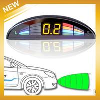 Car LED parking sensor kit Multi-Color 4 Sensors 22mm backlight display front and reversing radar machine,Free Shipping