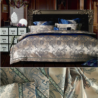 Tencel bedding set Queen King size 4pc Noble Palace Luxury bed linen tribute silk satin jacquard duvet cover sheet bedclothes