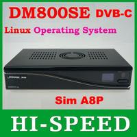DVB-C Cable receiver DM800HD se with Original SIM A8P Security Card Linux TV receiver dm800se DVB-C Cable receiver Free Shipping