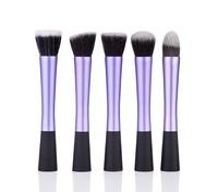 Hot Luxury 5PCS /set Makeup Brush Soft Synthetic Hair Malfunctional Powder Blush Cosmetic Brush New Arrival ZH1190 Bshow