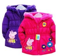 New 2014  peppa pig coats for children, children outerwear & coats, girls jackets Free shipping