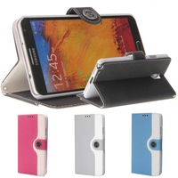 Pink Black Gray Blue PU Leather Wallet Flip Case Cover for Samsung Galaxy Note 3