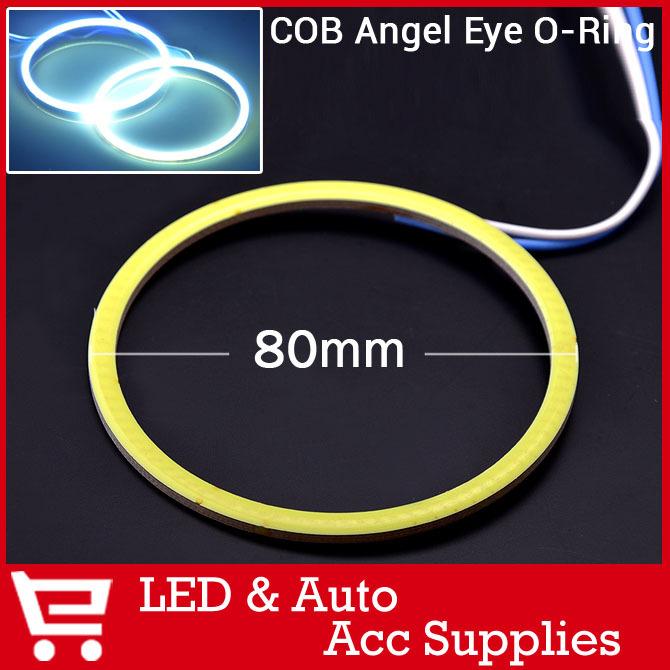 2pcs 80mm COB Angel Eye LED Chip Car Light Super Bright Waterproof Headlight halo Ring COB light(China (Mainland))