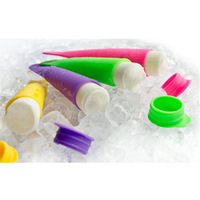 free shipping 200pcs/lot Push Up Ice Cream Pop Maker Ice Popsicle Mould Mold Jelly Lolly Mold mix colors