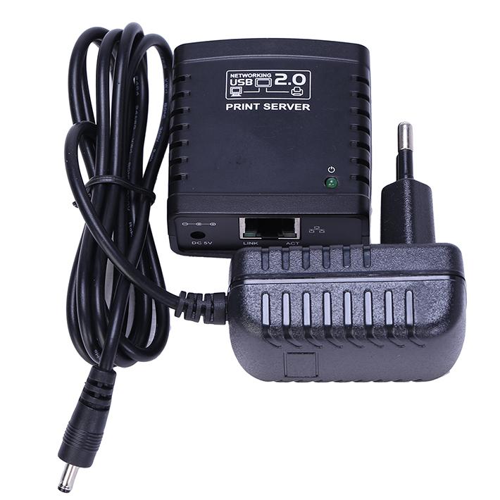 Free Shipping LPR USB 2.0 Network Print Server Printer Share Ethernet W/wireless Networking EU Plug(China (Mainland))