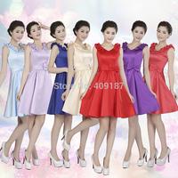 Brand New fashion design Knee-Length Sleeveless Bridesmaid Dress or Lady Dress HC12(2)