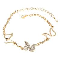 New Arrival Female Romantic Bracelet Butterfly Crystal Bracelets for Women Love Bracelet Bangles ML-480