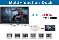 Multi Function 1080P Micro USB Port Dock Station Charger OTG MHL to HDMI for Samsung Galaxy S3 III I9300 S4 IV I9500 Note 2