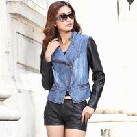 2014 new spring European style women jackets slim leather jackets women free shipping Z452