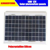 10 w polycrystalline silicon solar panels Photovoltaic solar modules 12 v battery storage battery,