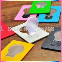 Portable Pocket LED Card Light Lamp & Mini LED Credit Card Light & Gift Light Free Shipping