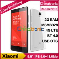 """Original Xiaomi Redmi Note Red Rice Note Hongmi Note MTK6592 Octa-core1.7G Multi-language WCDMA Dual-SIM 5.5""""HD IPS 13.0M 2G RAM"""