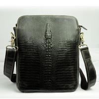 New Vintage Crocodile Casual Oil Wax Leather Genuine Leather Cowhide Men Messenger Bag Shoulder Bag Ipad Bag Bags For Men Y18868