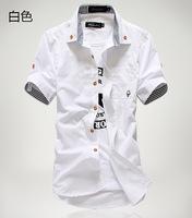 Best selling spring summer fashion slim hot men's shirts new short sleeve shirts men 5 color M-XXXL free shipping