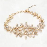 2014 Fashion Bracelet for Women Gold Bracelets Bangles Crystal Jewelry Sterling Silver Bracelets for Women ML-170