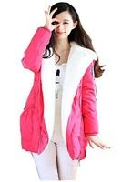 free shipping women down jacket fur inside coat winter dress thick down parka women fashion down jacket 288