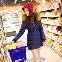 free shipping down parka women 's casual down jacket solid fashion winter jacket coat women 358