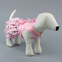 Free shipping dog dress for puppy summer wholesale pet product accessories from China pet dress pink clothing xxs yorkie poodle