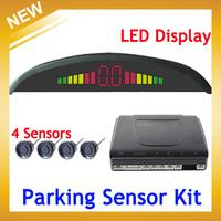Car LED Backlight Display Parking Sensor Kit Multi-Color 4 Sensors 22mm Reverse Backup Radar , Free Shipping