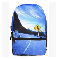 fashion blue sky backpack student school bags women  man blue sky school shoulder canvas bag