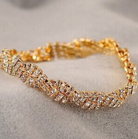 fashion full rhinestone bling all-match bracelet exquisite bracelet female jewelry