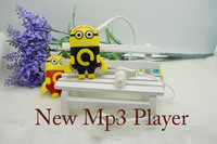 New fashion MINI  mp3 player cartoon sport music mp3 Without Micro TF/SD Card  with earphone and USB Line
