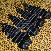 Queen Hair Products Deep Wave Brazilian Virgin Hair 4pcs/lot Natural Black Grade 5A Human Hair Weaves No Shedding Free Shipping