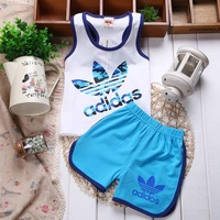 Free shipping 2014 summer models of child children baby boy child vest shorts suit