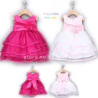 Kidsdress Sale Pattern Regular Cute Vestido Bs022 2014 New Summer Girl Princess Party Dress Sleeveless Layered free Shipping