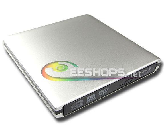 Slim USB 3.0 External Blu-ray Drive 6X 3D Blue-ray BD-RE DL Recorder Drive for Asus Vivobook S550CA S551LB S550CB Mini Laptop PC(Hong Kong)