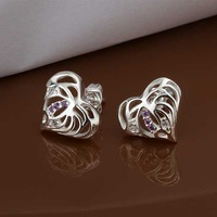 Wholesale 925 Silver Earring 925 Silver Fashion Jewelry,Heart Earrings Best Service SMTE427