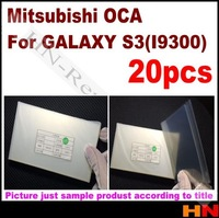 20pcs For Samsung Galaxy S3 i9300 OCA Optical Clear Adhesive Double Side Sticker lcd Glue 250um Thick   for Mitsubishi  Mitsu