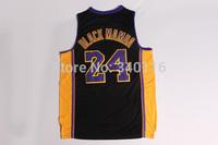 Free Shipping, #24 Black Mamba basketball jersey