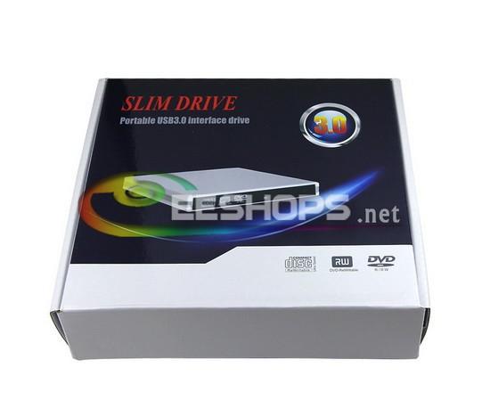 Slim USB 3.0 External Blu-ray Recorder 6X 3D BD-RE DL Burner Drive for Lenovo IdeaPad U410 U510 U430 U330 Touch Screen Ultrabook(Hong Kong)