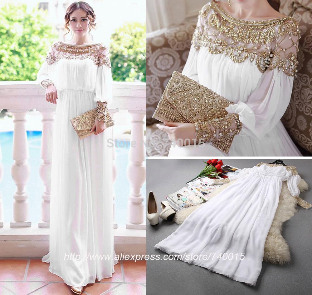 Livraison gratuite de longueur de plancher lourds perlées. musulman. femmes s'habillent design arabe mode islam vêtements abaya à dubaï pour la vente 2014