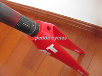 OEM FUNDR Full Carbon Fibre Road Bicycle Bike Front Fork Full  Red  free shipping 400g