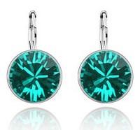 2014 New Fashion High Quality Crystal Earrings for Women Fashion Earrings Free Shipping