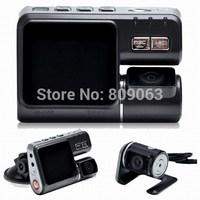 i1000 Car DVR Dual Lens Car DVR Car Black Box with Rear View Camera + H.264 + 120 Degree Wide Angle Lens Dash Cam Car Camcorder