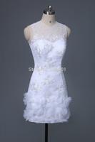 short wedding dress flowers 2015 the new brides wedding dresses lace vestido de renda branco curto vestidos de noiva 237