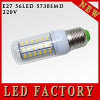 Hot selling Waterproof SMD 5730 E27 18w led corn bulb lamp, E27 56LED 5730 Warm white /white,5730 SMD led lighting,free shipping
