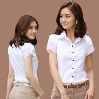 2014 Women Clothing Fashion Office Lady White Casual Shirt Design Tops Noble Charm Women Formal Blouse Plus Size Size S - XXXXXL
