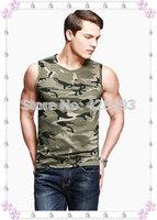 Men's sleeveless camouflage Tank Tops High quality stretch cotton undershirt Slim a shirt sports Vest