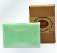 Free shipping tea tree essential oil handmade soap 110g cleasing bath beauty tender-skin OEM handmade soap wholesale